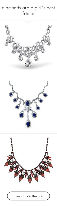 """""""diamonds are a girl´s best friend"""" by kirsimari ❤ liked on Polyvore featuring jewelry, necklaces, accessories, chain-necklaces, necklaces pendants, diamond jewelry, art deco diamond pendant, diamond pendant necklace, diamond pendant and diamond necklace"""