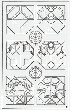 Octagon Ceiling Pattern. Classical Ceiling Pattern. Architectural Geometry. Sacred Geometry. Orna011-Achteck.png
