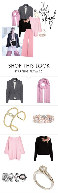 """She's Strong"" by lilycollinschic ❤ liked on Polyvore featuring H&M, Denis Colomb, Ivanka Trump, Blue Nile, Duffy, Dolce&Gabbana, Paper London, Pink, scarf and women"
