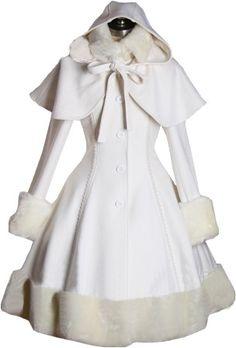 Classic Gothic Lolita: Manteau en laine lourde cape amovible : 10 Coloris! V00012