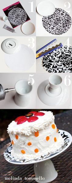 Easy DIY Mini Cake Stand by MelindaTomasello.com   TodaysCreativeBlog.net