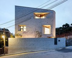 Image 13 of 23 from gallery of Pyeong Chang Dong Brick House / June Architects. Photograph by Yongsub Shin Residential Architecture, Contemporary Architecture, Amazing Architecture, Architecture Details, Gable Roof Design, Don G, Beautiful Buildings, View Photos, Building A House