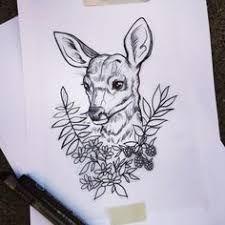 """Résultat de recherche d'images pour """"tattoo minimaliste cerf"""""""