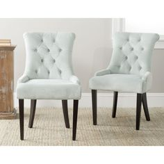 Safavieh Bowie Light Blue Side Chairs (Set of 2) - Overstock Shopping - Great Deals on Safavieh Dining Chairs