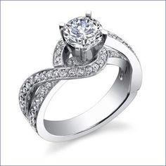 Gregorio 18K WG Diamond Engagement Ring R-446