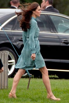 Kate at Prince Willliam's polo match in Berkshire, England