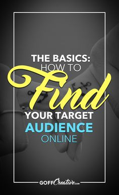 The Basics: How To Find Your Target Audience Online How High Are You, Online Entrepreneur, Target Audience, Blogging For Beginners, Making Ideas, Online Business, Finding Yourself, Things To Sell, Media Marketing