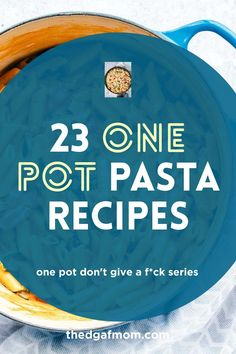 One pot pasta recipes to make dinner quickly, fast. One pot pasta meal ideas. one pot pasta dinner ideas to try tonight!