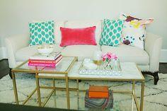 Ikea Hack: Marble Gold Coffee Table via  Darling Darleen