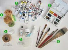 My Watercolor Tools by KelliRoos