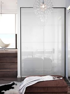 wardrobes with sliding doors like pax require no additional space