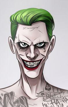 Joker by Nogicu on DeviantArt Art Du Joker, Harley Quinn Et Le Joker, Joker Kunst, Jared Leto Joker, Joker Drawings, Joker Wallpapers, Marvel Vs, Comic Character, Cartoon Art