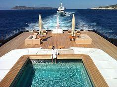 Superyacht with a pool! #boatsdotcom boats.com