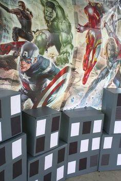 Avengers Birthday - Backdrop/Cityscape