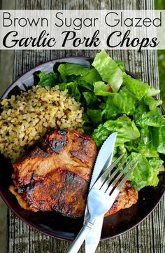 Brown Sugar Glazed Garlic Pork Chops One thing I have found is if you can make a dish some what sweet you can get my eats to eat things they normally wont