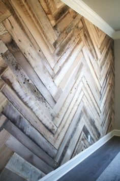 : DIY Barn Wood Herringbone Wall Treatment and a Giveaway! DIY Barn Wood Herringbone Wall Treatment and a Giveaway! Shanty 2 Chic The post DIY Barn Wood Herringbone Wall Treatment and a Giveaway! appeared first on Pallet ideas. Wood Feature Wall, Barn Wood, Wood, Woodworking Projects Diy, Wood Pallet Wall, Wall Tiles Living Room, Herringbone Wall, Wall Treatments, Herringbone Wood