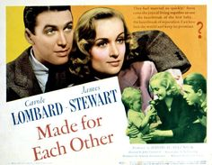 James Stewart, Carole Lombard, and Bonnie Belle Barber in Made for Each Other (1939)