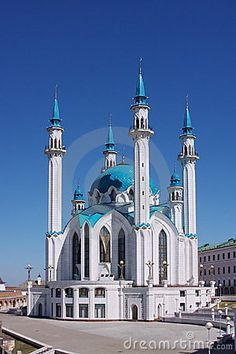 The beautiful mosque is in city Kasan by  Galina Onishenko, via Dreamstime