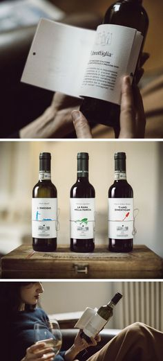 Printed Short Stories That Double as Wine Bottle Labels Wine Bottle Design, Wine Label Design, Wine Bottle Labels, Utah, Bottle Packaging, Packaging Ideas, Wine Brands, Packaging Design Inspiration, Wine And Spirits