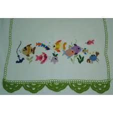 Resultado de imagem para panos de pratos bordados