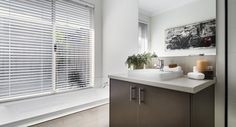 Caroma semi-inset vanity basins mixer taps and glass semi frameless pivot screen doors & Stylish bathrooms with semi-inset basins mixer taps and glass semi ...