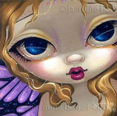 Faces of Faery ~ Purple Butterfly by Jasmine Becket-Griffith 5/7/14