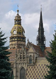 Elisabeth Cathedral, Košice, Slovakia Detailed view of St. Elisabeth Cathedral, Košice, Slovakia - the largest church in Slovakia. Cathedral Basilica, Cathedral Church, Gothic Cathedral, Beautiful Buildings, Beautiful Places, Beautiful Castles, Europe Centrale, Bratislava Slovakia, Central And Eastern Europe