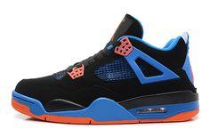 Mens Air Jordan 4 Blue Black
