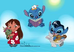 Stich Chibi Set by MoonchildinTheSky on DeviantArt - Stitching Projects Non Disney Princesses, Disney Characters, Lilo Y Stitch, Disney Movies To Watch, Harry Potter Gifts, Magic Cards, Cute Chibi, Disney Fan Art, Disney Inspired