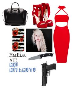"""Mei Miyamoto Mafia AU!"" by jettcc ❤ liked on Polyvore featuring Jimmy Choo, Gerber and Givenchy"