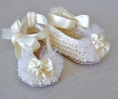 Crochet Pattern Baby Ballerina Slippers Baby Wedding Shoes Crochet Pattern Digital File Instant Download