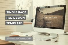 FREE this week - Dec 1 - Check out One Page PSD Template Design by Maroon Baboon on Creative Market