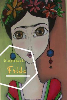 Simplemente frida #complementwo #arte #decoracion #mdf #mujer #cuadro #pintura #puntillismo #frida