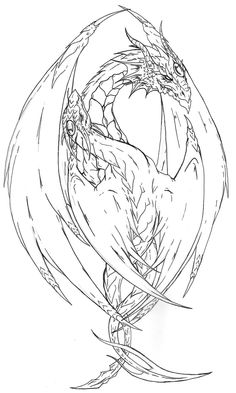 Dragon Coloring Pages for Adults . Awesome Dragon Coloring Pages for Adults . Yin Yang Dragon Tattoo Lines by Fachhillisviantart On Spring Coloring Pages, Animal Coloring Pages, Coloring Book Pages, Printable Coloring Pages, Coloring Sheets, Tattoo Coloring Book, Dragon Coloring Page, Dragon Sketch, Dragon Artwork