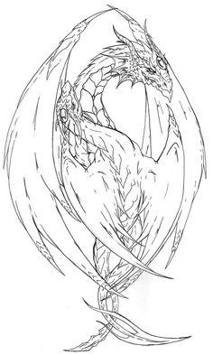 Yin Yang Dragon tattoo lines by Fachhillis.deviantart.com on @deviantART