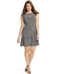 Lauren Ralph Lauren Scuba Fit & Flare Dress available at Nordstrom