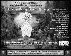 Vintage Toledo TV - Vintage Cable Ads - The Sissy Duckling on HBO (Tue 9/14/99 TV Guide ad)