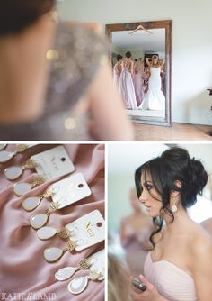 OMG I love this wedding color scheme, hair, jewelry, dresses, everything!!!