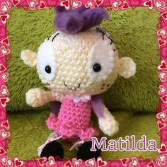 Crochet amigurumi Matilda doll by Cutesybeasties on Etsy