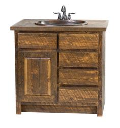 Faux Barn Wood Vanity | Rustic Furniture Mall by Timber Creek