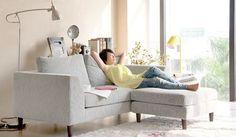 Mini L shape - Small Corner Sofa - Ideal for Small Rooms- Delux Deco UK £595: