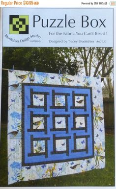 Puzzle Box Quilt Pattern, Pieced from Yardage, Three Size Options: and - crock pot mom Baby Patterns, Quilt Patterns, Puzzles, Box Studio, Puzzle Box, T Shirt Yarn, Quilt Bedding, Decorative Pillow Covers, Baby Quilts