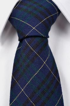 Tie from Tieroom, Notch FRANCES has got a comfortable tartan in blue, green, black and yellow.