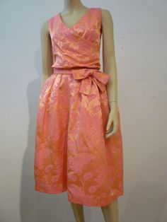 Christian Dior Late '50s Silk Brocade Cocktail Dress w/ Shoes | From a collection of rare vintage evening dresses at http://www.1stdibs.com/fashion/clothing/evening-dresses/