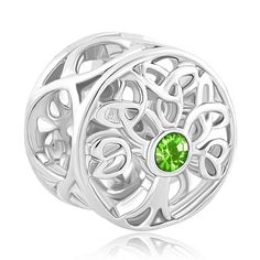 CoolJewelry Sterling Silver Family Tree Of life August Birthday Charm Beads For Bracelets. Choose your Birthday color. Dimensions (mm):9.92*10.71*10.30. The Hole Size is about 4.8mm~5mm. Ideal Gifts for Christmas, Mother's Day, Valentine's Day, Graduation Gifts, Bridal Gifts or your other special occasion you would like to make memorable. Find a special gift for a loved one or a beautiful piece that complements your personal style from CoolJewelry and create your own memory bracelet.