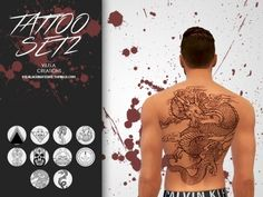 COOL TATS by Isabella Vilela! Def had to download for my Models! Check out other items by clicking on name!
