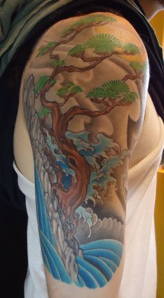 Bonsai Tree Arm Tattoo is a part of Bonsai Tree Tattoo gallery. If you like this photo take a look at some more tattoo designs of the kind below the post. Simple Tree Tattoo, Tree Tattoo Arm, Tattoo Forearm, Tree Tattoo Designs, Tree Designs, Tattoo Ideas, Olive Tattoo, Bonsai Tree Tattoos, Fruit Tree Garden