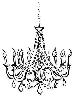 Mareca's drawings: chandelier