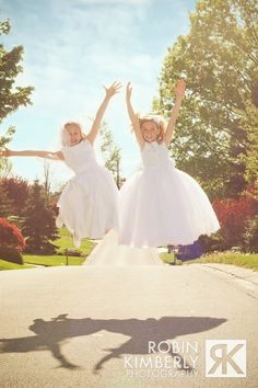 first communion girls jumping http://www.facebook.com/robinkimberly