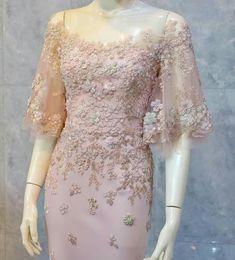 Dress Brokat Modern, Kebaya Modern Dress, Dress Brukat, Hijab Dress Party, Model Dress Kebaya, Unusual Dresses, Dress Pesta, Simple Bridesmaid Dresses, Elegant Party Dresses